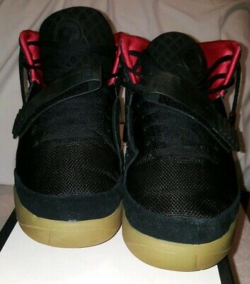 d5a6b869ef3 NIKE AIR YEEZY 2 Platinum Plat Solar Red size 11 Kanye LIGHTLY USED ...