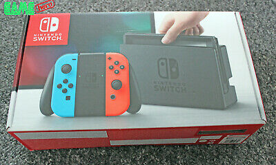 *no Console* Nintendo Switch Replacement Box Packaging Only Neon Red + Blue