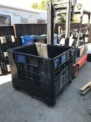 1 Number WAR980 Collapsible Plastic Pallet Boxes