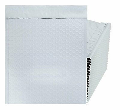 White Poly bubble mailers 8.5 x 11 Padded envelopes 8 1/2 x 11. Pack of 20.