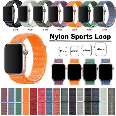 38/42/40/44mm Nylon Sport Loop iWatch Strap Band for Apple Watch Series 4 3 2 1