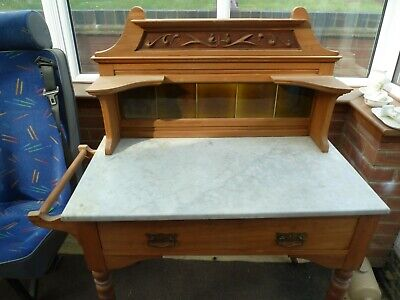 Victorian Wash Stand with Towel Rail