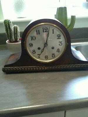 OAK  CASED MANTEL CLOCK for spares or repair
