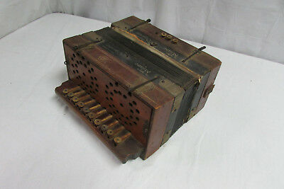 Atq Milano Organetto Mother of Pearl Button Accordion from 1800's Germany 22U1