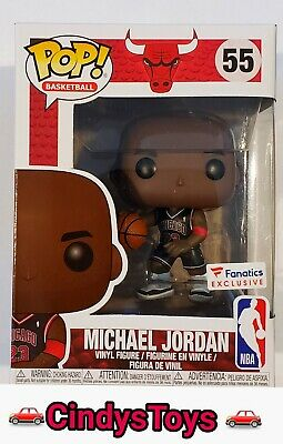Funko Pop Basketball Michael Jordan #55 Bulls Black Jersey Concords Fanatics Nba