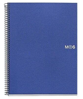 Miquelrius Blue 6-subject College Rule Poly Notebook 6.5x8