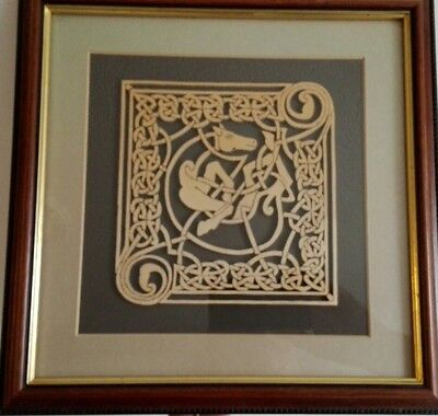 Celtic Fretwork Design Framed Scroll Saw Art
