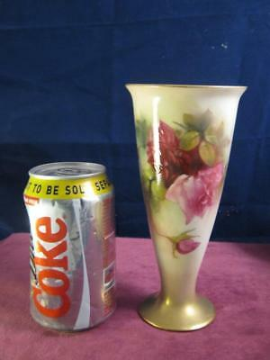 Stunning Royal Worcester Vase Hadley Roses Hand  Painted & Signed  Kitty Blake