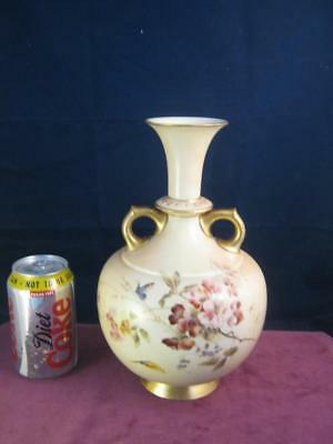 Lovely Antique Royal Worcester Blush  Ivory Hand Painted  Vase by Edward Raby