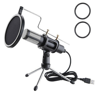 Condenser USB Microphone Mount Holder with Tripod Stand Studio Recording