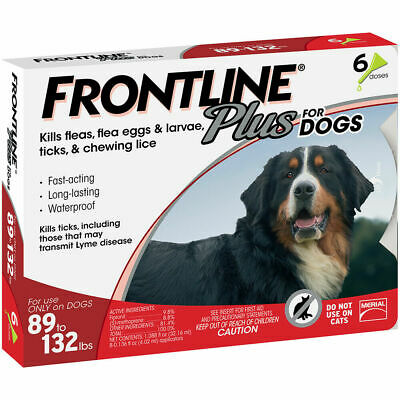 Frontline Plus Flea & Tick Prevention for X-Large Dogs 89 to 132 lbs 6 Doses