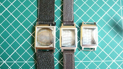 Lot Vintage Art Deco Watch Cases With Glasses In Great Condition
