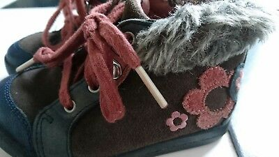 Clarks girls ankle boots size UK 6 F infant VGC
