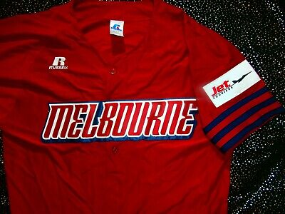 MELBOURNE ABL Baseball Supporters PLAYER ISSUE ? JERSEY Polo Shirt MENS TAG L XL