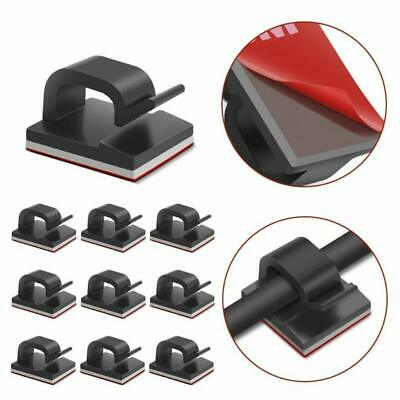 Self Adhesive Cable Clips Black Management Wire Clip Cord Holder 100 Pack