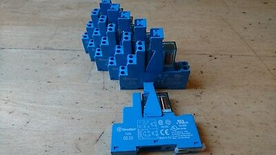 JOBLOT 6x FINDER Socket 95.05 + Relay - 8 pin