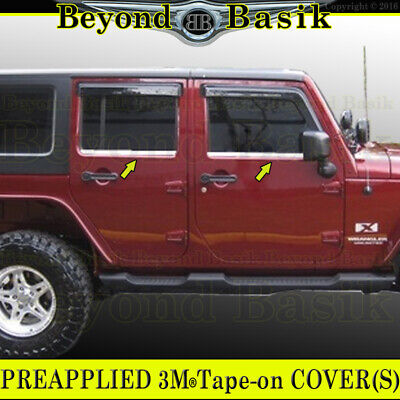 2007-2017 JEEP WRANGLER 4DR *STAINLESS STEEL* Window Sill COVERS