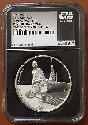 2017 Niue Star Wars Luke Skywalker NGC PF70UCAM PF70 Ultra Cameo First 2000 #3