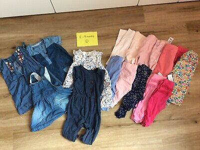 Large Bundle 6-9 month Girl Clothes inc M&S, H&M