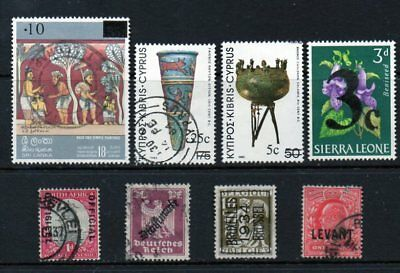 A Very Nice Mixture of 8-Worldwide-Interesting-Overprint-Issues