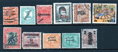 A Very Nice Mixture of 11-Worldwide Overprint Issues