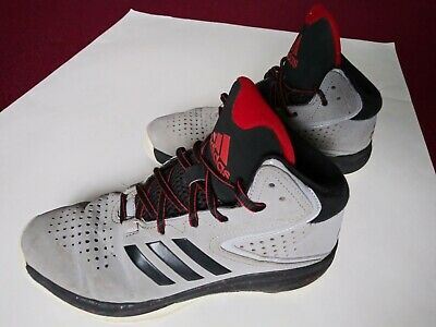 7b036c892a ADIDAS HIGH TOP Shoes Youth Boys Size 6 Gray Black Red