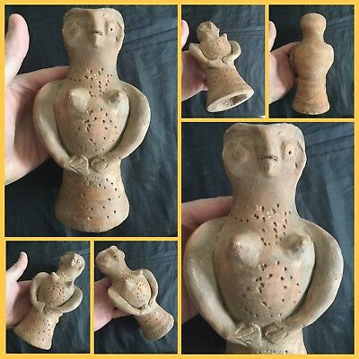 Rare ancient early Indus Valley Terracotta idol , c2800-2000 bc .