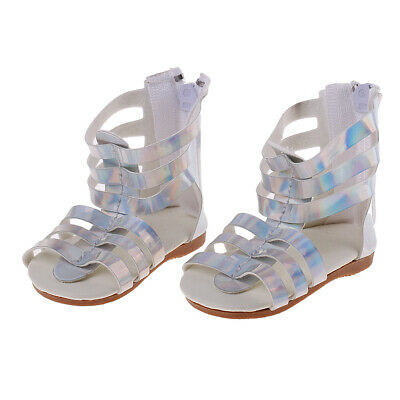 """Doll Silver SANDALS Flats Shoes for 18"""" AG American Doll Doll Clothes Dress Up"""
