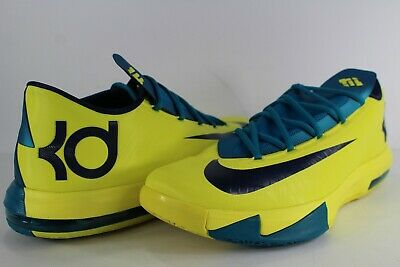 new product 5e26e b9f33 Nike Zoom KD VI 6 Seat Pleasant Sonic Yellow Midnight Navy Tropical Teal 12