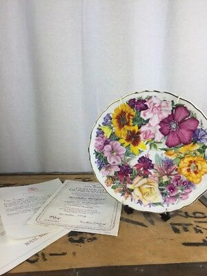 Royal Albert Birthday Bouquet Plate For The Queen Mother