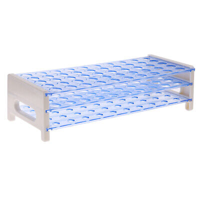 Blue Detachable Plastic Rack Test Tube Stand 50 Holes for 16mm Test Tubes