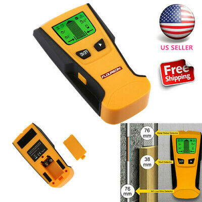 Floureon Stud Center Finder Metal And AC Live Wire Detector With LCD Display