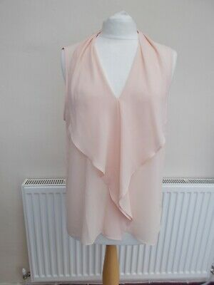ladies blouse made by very, uk size 16, pale pink, frilled front