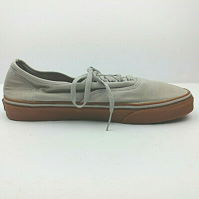 56c65399b1 VANS OFF THE WALL Men s Canvas Lace Up Skateboard Sneakers Shoes Size 11  Gray