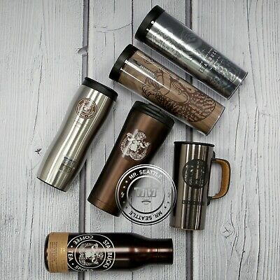 Starbucks Seattle Pike Place Stainless Steel Tumbler Water Bottle Cold Cup