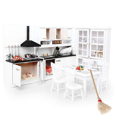 Miniature Luxury Cabinet Cleaning Tool Set 1/12 Dollhouse Kitchen Furniture