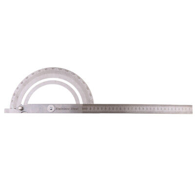 30cm/12'' Stainless Steel 180° Rotary Protractor Angle Finder Ruler Measure