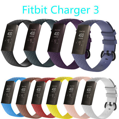 10-Pack Replacement Wristband For Fitbit Charge 3/SE Band Silicone Fitness-S/L
