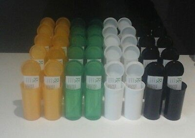 40 13dram Squeeze Weed Pop Top Pots and 40 free rx medical labels