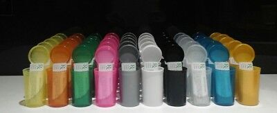 50 19dram Sqeeze Pop Top Pots all colours & 50 rx medical labels
