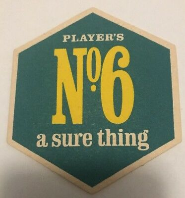Cigarette Advertising Beer Coaster Players No 6