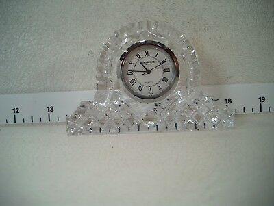Waterford Crystal Mantle Clock - ETCHED  IRELAND AND WATERFORD - NEW BATTERY