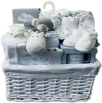 Unisex Baby Deluxe Large Neutral Gift Basket Maternity Leave Baby Shower Hamper