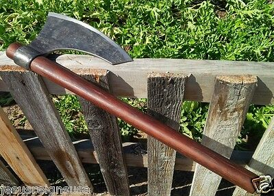 BEARDED CLIPPED VIKING AXE 6th Century Reproduction Hooked Tomahawk HAND FORGED