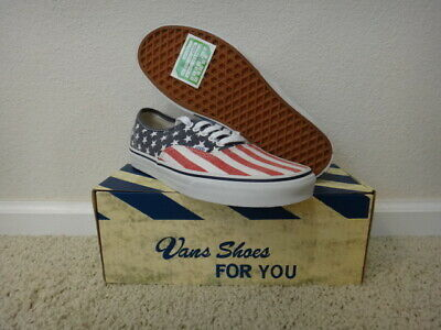 a9a1b54b37 Vans Authentic Van Doren Stars And Stripes US USA United States Americana  New 9