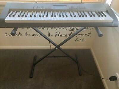 Casio Keyboard LK120 + Stand (as New)