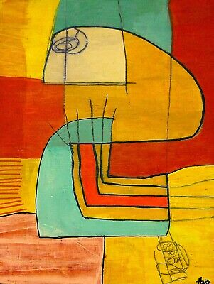 DREAM PIE Hoke Outsider Painting Abstract Art Brut RAW Vision Original SIGNED