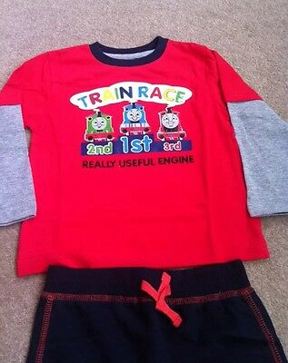 Baby Boys Thomas The Tank Engine 2 Piece Set - Cotton Top & Trousers 9-12 Months