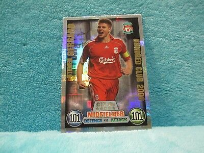 Match Attax Attack 2016/17 457 Steven Gerrard Legend Hundred 101 100 Club Card