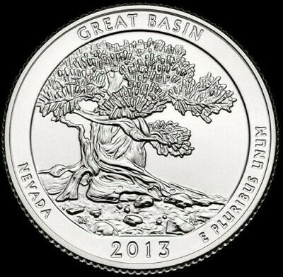 "2013 ""S"" Great Basin National Park Quarter Nevada ""Brilliant Uncirculated"" ATB"